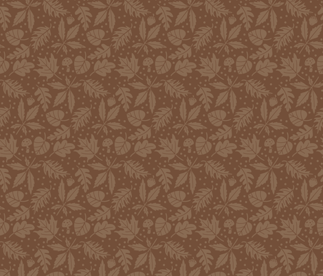 Autumn leaves fabric by macywong on Spoonflower - custom fabric
