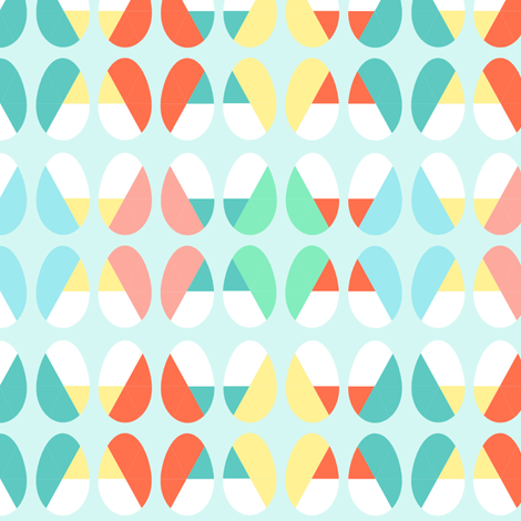 Diagonal Dip Eggs fabric by babysisterrae on Spoonflower - custom fabric