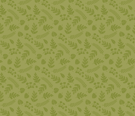Fern leaves green fabric by macywong on Spoonflower - custom fabric