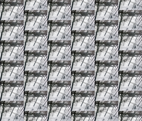 Last Snow of the Season, Paris 2013, variation 2a fabric by susaninparis on Spoonflower - custom fabric