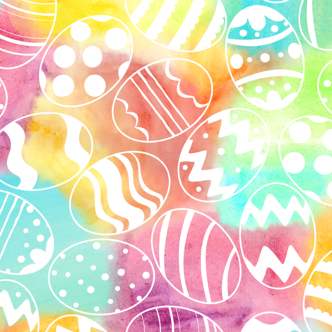 Watercolored Eggs fabric by wildnotions on Spoonflower - custom fabric