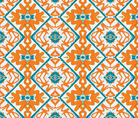 Orange Crush fabric by susaninparis on Spoonflower - custom fabric