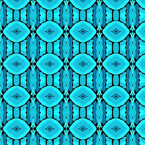 seafoam blue petals fabric by dk_designs on Spoonflower - custom fabric