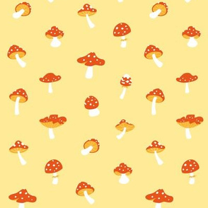 Mushroom toadstool yellow