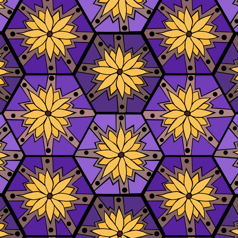 Flower Tile fabric by pond_ripple on Spoonflower - custom fabric
