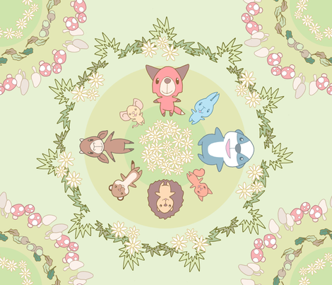 Woodland Babies fabric by shiro on Spoonflower - custom fabric