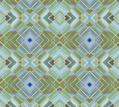 Metro Tiles 1 fabric by susaninparis on Spoonflower - custom fabric