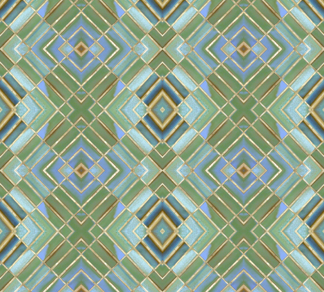 Metro Tiles 2 fabric by susaninparis on Spoonflower - custom fabric
