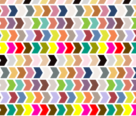 Multi Coloured Chevron fabric by creative_merritt on Spoonflower - custom fabric