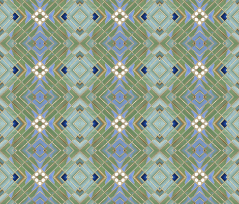 Metro Tiles 3 fabric by susaninparis on Spoonflower - custom fabric
