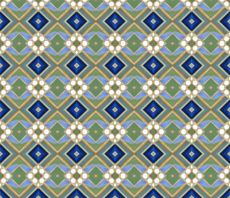 Metro Tiles 5 fabric by susaninparis on Spoonflower - custom fabric