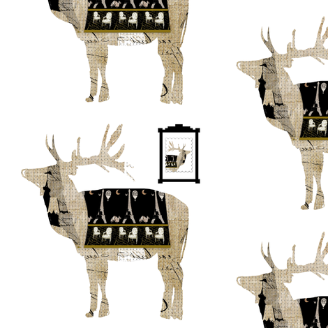 Deer Relatives fabric by karenharveycox on Spoonflower - custom fabric