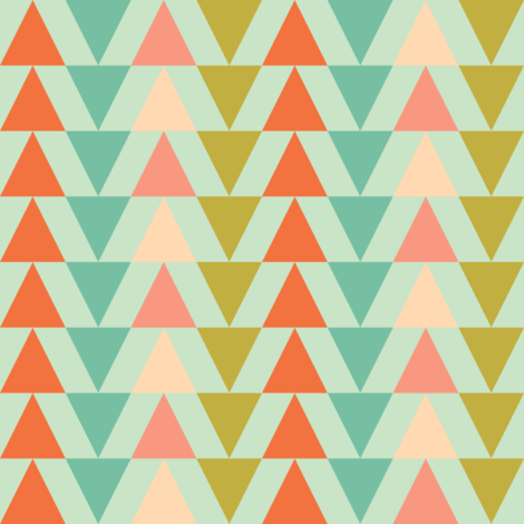 Triangles fabric by arttreedesigns on Spoonflower - custom fabric