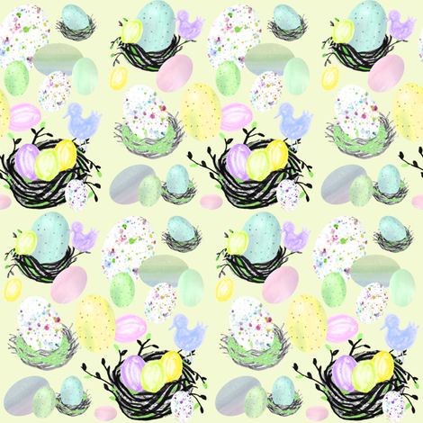 Hey Little Birdie fabric by graceful on Spoonflower - custom fabric
