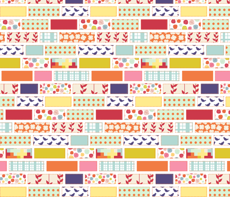Garden PatchworkQuilt fabric by mrshervi on Spoonflower - custom fabric