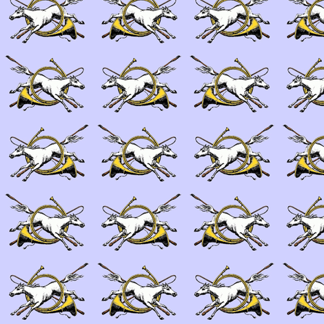 Horses and Hunting Horns fabric by ragan on Spoonflower - custom fabric