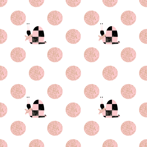 There's a snail in my polka dots fabric by karenharveycox on Spoonflower - custom fabric
