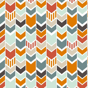 Red Blue Orange Chevron
