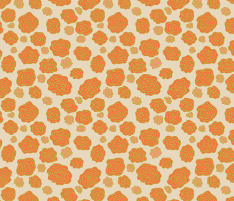 Orange Roses fabric by arttreedesigns on Spoonflower - custom fabric