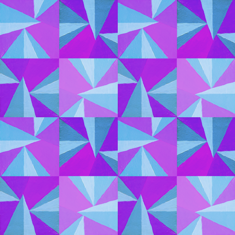 Blue and Purple Triangles fabric by doiknowyou on Spoonflower - custom fabric