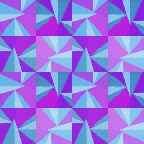 Blue and Purple Triangles
