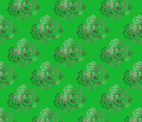 Green Antique Lace fabric by dlhoward on Spoonflower - custom fabric