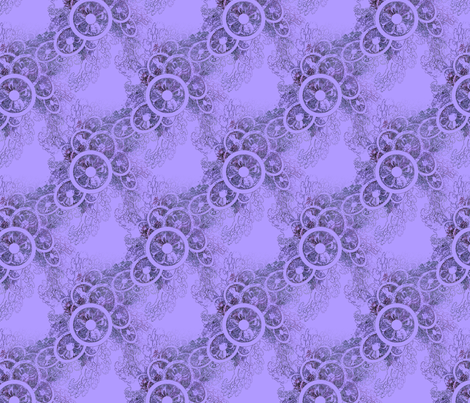Violet Fascinator fabric by dlhoward on Spoonflower - custom fabric