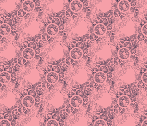 Pink Fascinator  fabric by dlhoward on Spoonflower - custom fabric