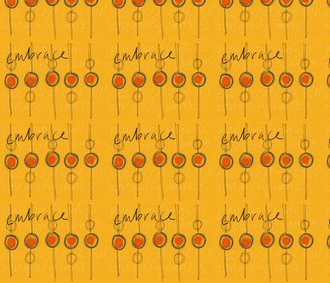 e m b r a c e fabric by smudged_textiles_studio on Spoonflower - custom fabric