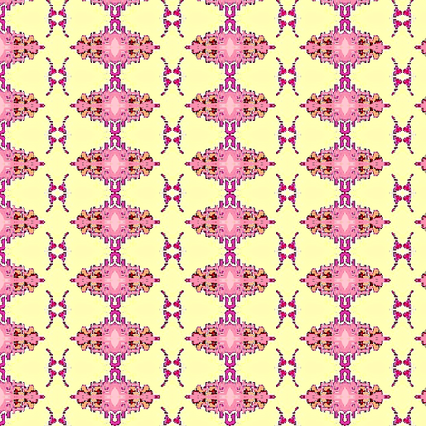 Pink flowers bunch fabric by dk_designs on Spoonflower - custom fabric