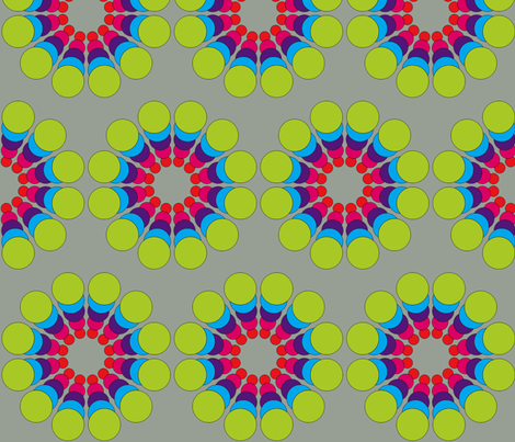 Beautiful Burst in Lime, Turquoise, and Red fabric by theartwerks on Spoonflower - custom fabric