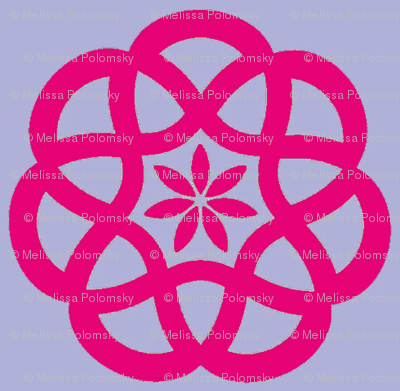 Celtic Knots in Lavender and Magenta