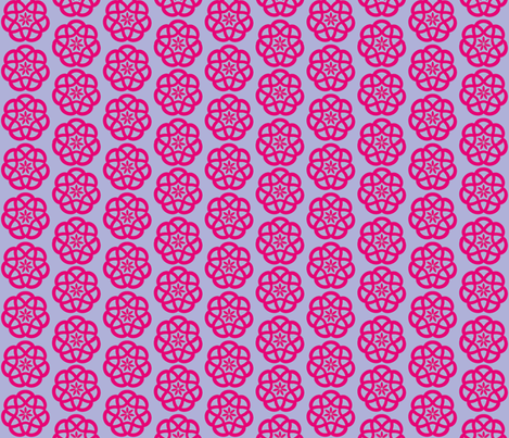 Celtic Knots in Lavender and Magenta fabric by theartwerks on Spoonflower - custom fabric