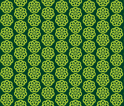Celtic Knot in Forest and Lime fabric by theartwerks on Spoonflower - custom fabric