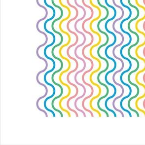 Rainbow Eggs Tea Towel