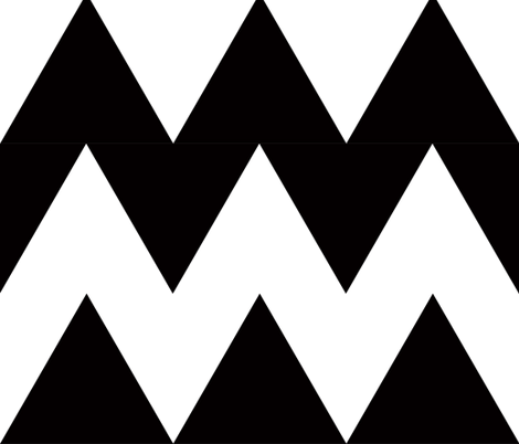 chevron black and whiet X large fabric by katarina on Spoonflower - custom fabric