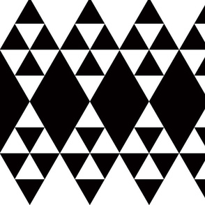 triangles and argyle black and white