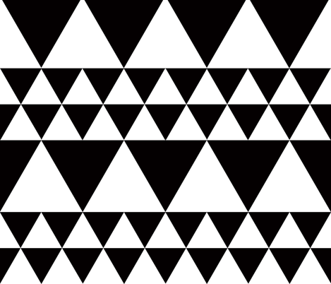 triangles and argyle black and white fabric by katarina on Spoonflower - custom fabric