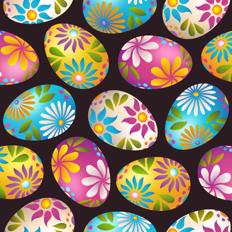 Painted Eggs fabric by fattcheese on Spoonflower - custom fabric