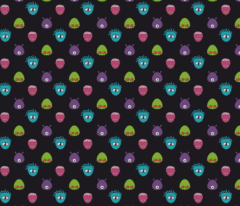 ET in black fabric by aureliecouderc on Spoonflower - custom fabric
