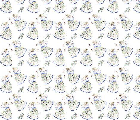 flower girl fabric by krs_expressions on Spoonflower - custom fabric