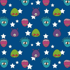 Blue, stars, and ET !