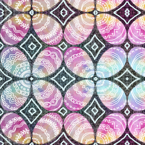 Painted Eggs Memories fabric by martaharvey on Spoonflower - custom fabric