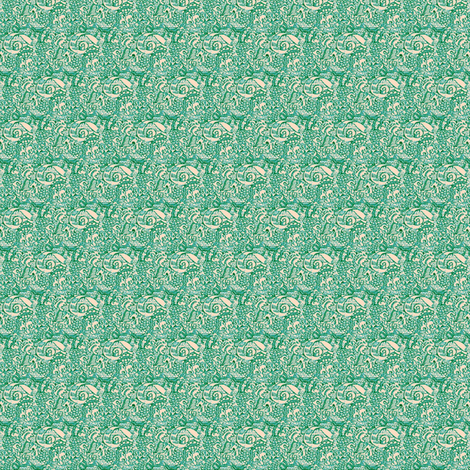 Sea-green Scroll fabric by amyvail on Spoonflower - custom fabric