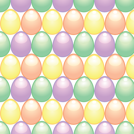 Repeating Eggs fabric by mmdxd on Spoonflower - custom fabric