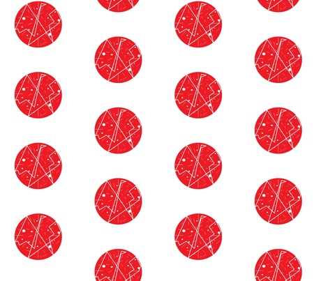red_on_white half-drop fabric by vos_designs on Spoonflower - custom fabric