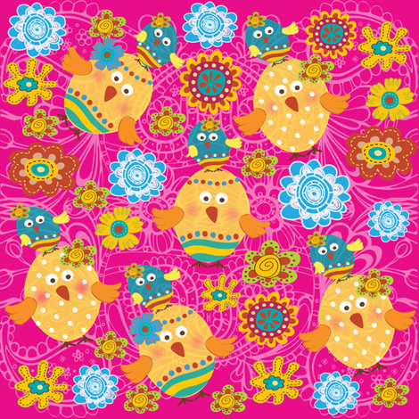 Eggcited fabric by deeniespoonflower on Spoonflower - custom fabric