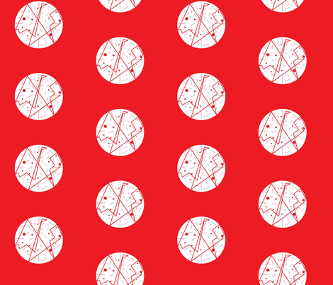 white_on_red fabric by vos_designs on Spoonflower - custom fabric