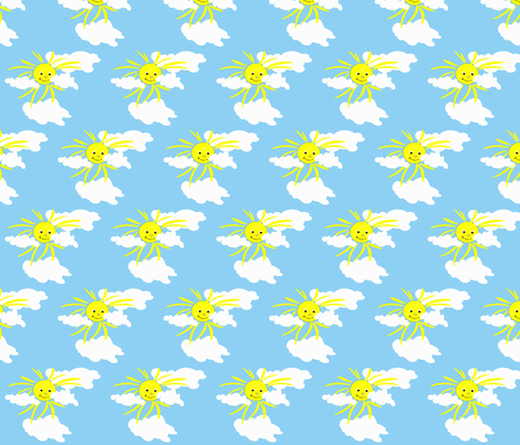 Sun1 fabric by retroretro on Spoonflower - custom fabric