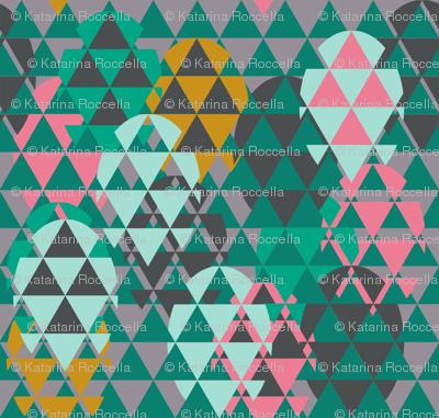 Modern Easter eggs triangles